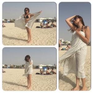 Using my turkish towel as sarong at the beach