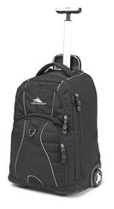 High Sierra Powerglide Wheeled Backpack is another good option for travelers