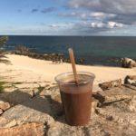 Chocolate shake from the beach