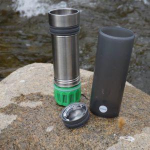 Grayl Water Filter Bottle for Travel near River