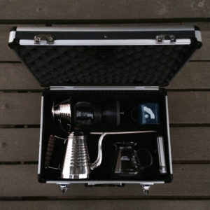 Big Coffee Maker set packable briefcase