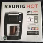 Unpacked Keurig K15 coffee maker