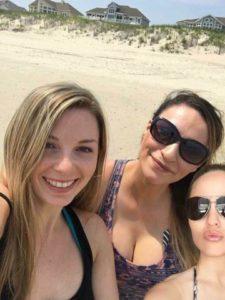 3 beautiful girls on a beach