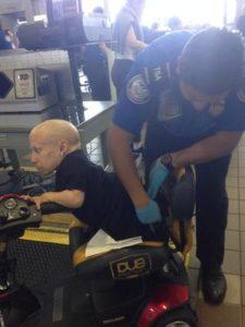 Dwarf getting screened by TSA