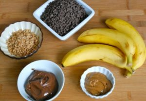 Nutella and Toffee Frozen Banana bites