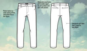 Travel Pants features