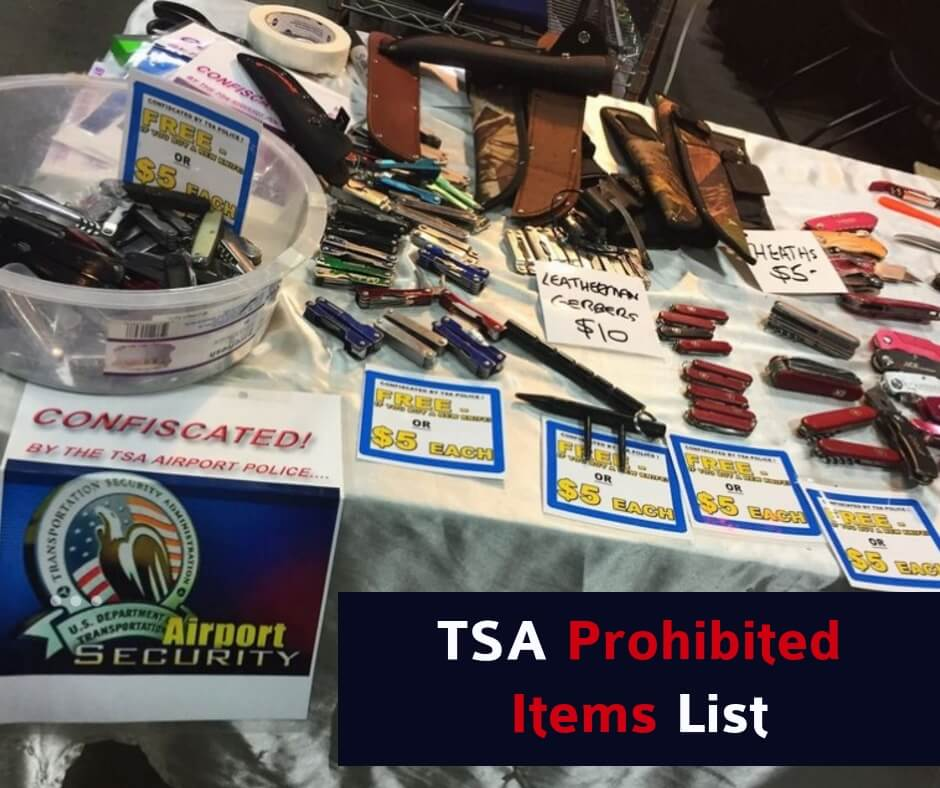 Trouble Free Flying - TSA Prohibited Items on Planes in 2021