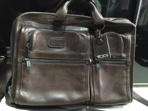 Leather material Tumi Alpha 2 Travel Briefcase