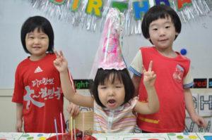 Celebrating Korean Student birthday in Korea