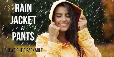 The Best Lightweight Packable Rain Jacket and Pants for Men and Women