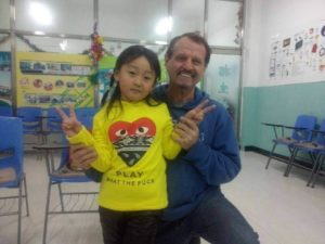 A student and an English teacher in China