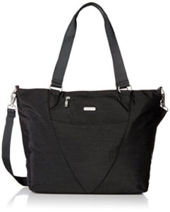 Baggallini Avenue Lightweight Tote Bag - Multi-Pocketed, Water-Resistant Travel Purse with Adjustable and Removable Crossbody Strap