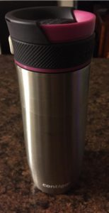 contigo travel coffee mug closeup