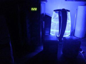 illuminated electric kettle