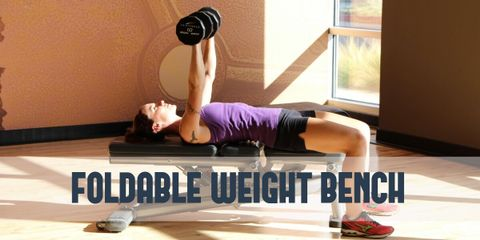 Workout Anywhere With Foldable Travel Weight Bench