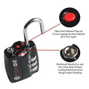 Forge TSA Locks 2 Pack - Open Alert Indicator, Alloy Body with Lifetime Warranty functions