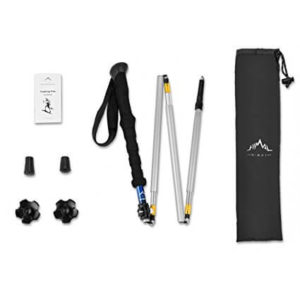 Himal 1 PCS Folding Collapsible Travel Hiking Walking Stick Trekking Pole with EVA Foam Handle content