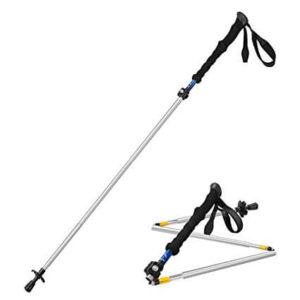 Himal 1 PCS Folding Collapsible Travel Hiking Walking Stick Trekking Pole with EVA Foam Handle