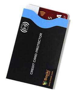 Identity Theft Prevention RFID Blocking Sleeve Set by Boxiki passport protector