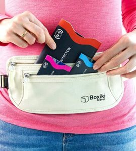 Identity Theft Prevention RFID Blocking Sleeve Set by Boxiki in a wallet