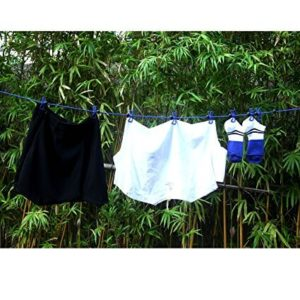 drying clothes on travel clothesline